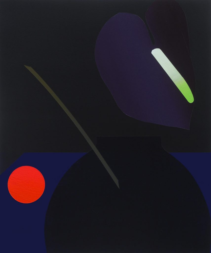 K28323  'Black on Blue on Black (Deconstructed Still Life)'